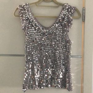 Tops - Sequin Top silver